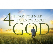 4 things you need to know about God (100 Pack)