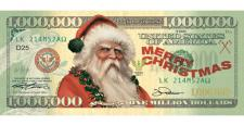 CHRISTMAS MILLION DOLLAR BILL (100 Pack)